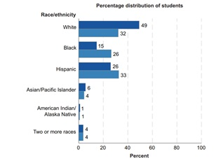 School Distribution in the US by Race